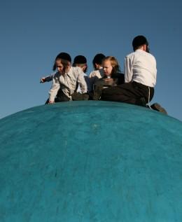 """ילדים על הכיפה המרכזית יום-כיפור קטן ראש חודש אלול תשע""""ד"""